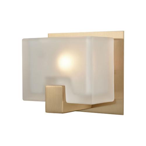 ELK Lighting 11970/1 Ridgecrest 1-Light Vanity Sconce in Satin Brass with Frosted Cast Glass