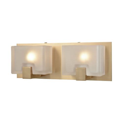 ELK Lighting 11971/2 Ridgecrest 2-Light Vanity Sconce in Satin Brass with Frosted Cast Glass