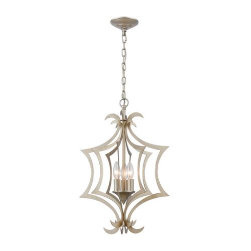 ELK Lighting 12062/3 Delray 3-Light Pendant in Aged Silver
