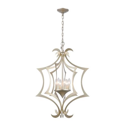 ELK Lighting 12063/6 Delray 6-Light Pendant in Aged Silver