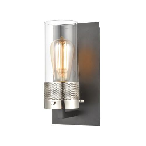 ELK Lighting 12140/1 Bergenline 1-Light Vanity Light in Matte Black with Clear Glass