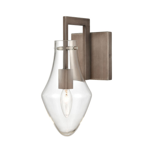ELK Lighting 12291/1 Culmination 1-Light Vanity Light in Weathered Zinc with Clear Glass