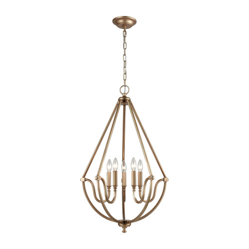 ELK Lighting 12842/5 Stanton 5-Light Chandelier in Matte Gold
