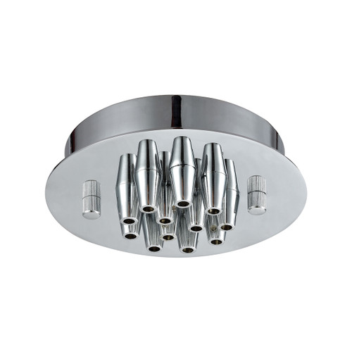 ELK Lighting 12SR-CHR Pendant Options 12 Light Small Round Canopy in Polished Chrome