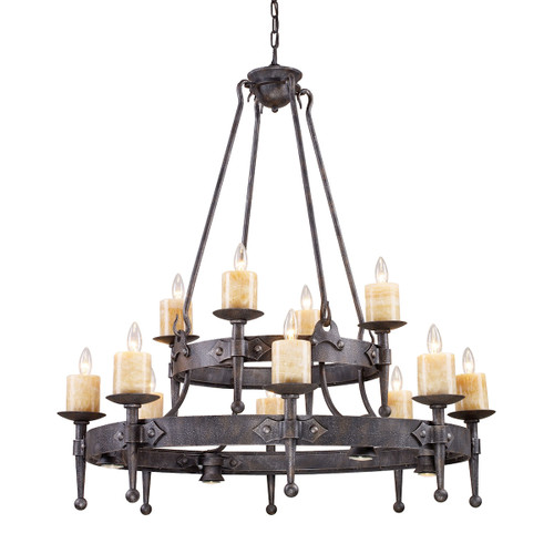 ELK Lighting 14006/8+4+4 Cambridge 12+4-Light Chandelier in Moonlit Rust