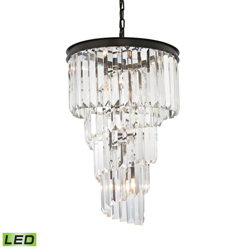 ELK Lighting 14217/6-LED Palacial 6-Light Chandelier in Oil Rubbed Bronze with Clear Crystal - Includes LED Bulbs