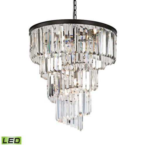 ELK Lighting 14218/9-LED Palacial 9-Light Chandelier in Oil Rubbed Bronze with Clear Crystal - Includes LED Bulbs