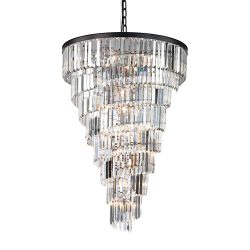 ELK Lighting 14219/14 Palacial 15-Light Chandelier in Oil Rubbed Bronze with Clear Crystal