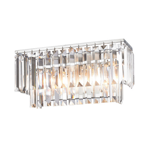 ELK Lighting 15211/2 Palacial 2-Light Vanity Sconce in Polished Chrome with Clear Crystal