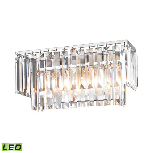 ELK Lighting 15211/2-LED Palacial 2-Light Vanity Sconce in Polished Chrome with Clear Crystal - Includes LED Bulbs