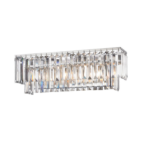 ELK Lighting 15212/3 Palacial 3-Light Vanity Sconce in Polished Chrome with Clear Crystal