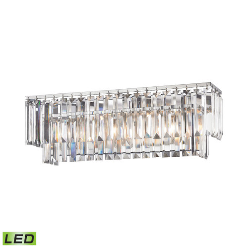 ELK Lighting 15212/3-LED Palacial 3-Light Vanity Sconce in Polished Chrome with Clear Crystal - Includes LED Bulbs