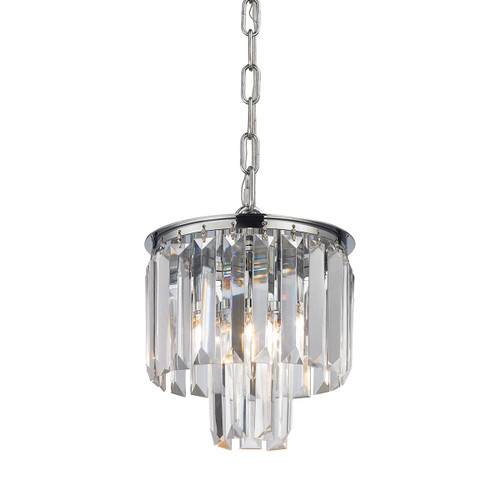 ELK Lighting 15214/1 Palacial 1-Light Mini Pendant in Polished Chrome with Clear Crystal