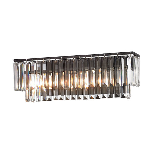 ELK Lighting 15222/3 Palacial 3-Light Vanity Lamp in Oil Rubbed Bronze with Clear Crystal