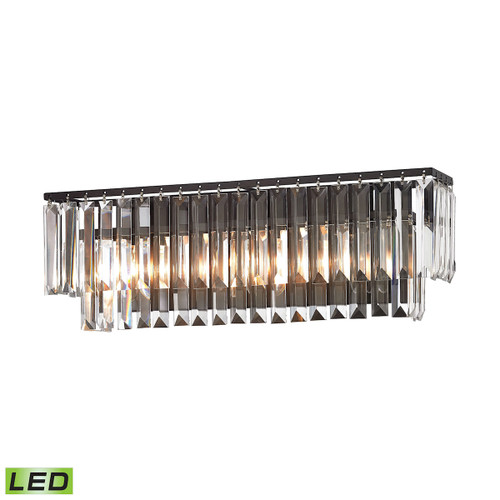 ELK Lighting 15222/3-LED Palacial 3-Light Vanity Lamp in Oil Rubbed Bronze with Clear Crystal - Includes LED Bulbs