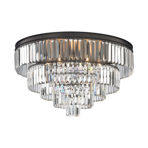 ELK Lighting 15226/6 Palacial 6-Light Chandelier in Oil Rubbed Bronze with Clear Crystal