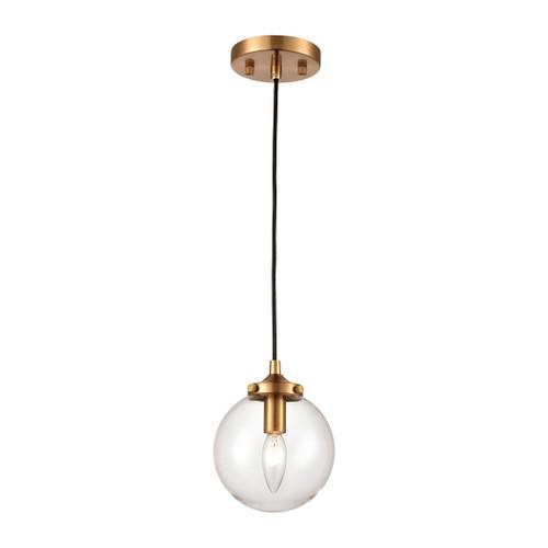 ELK Lighting 15343/1 Boudreaux 1-Light Mini Pendant in Matte Black with Clear Glass