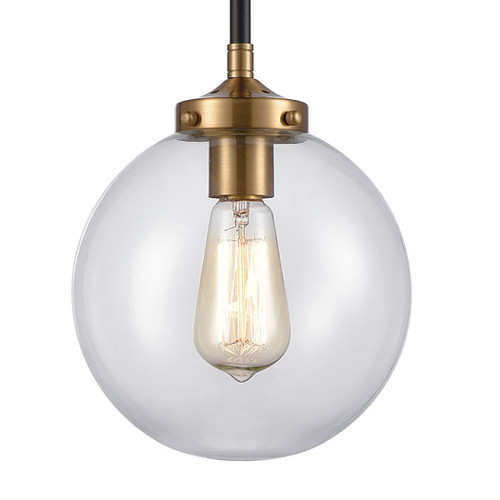 ELK Lighting 15344/1 Boudreaux 1-Light Mini Pendant in Matte Black with Clear Glass