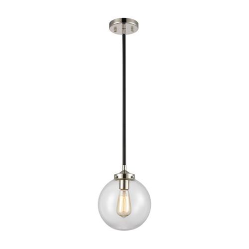 ELK Lighting 15354/1 Boudreaux 1-Light Mini Pendant in Matte Black with Clear Glass