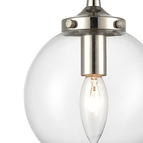 ELK Lighting 15365/1 Boudreaux 1-Light Mini Pendant in Matte Black with Clear Glass