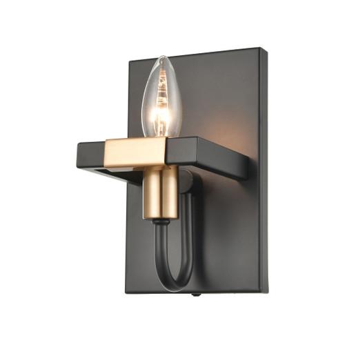ELK Lighting 15451/1 Heathrow 1-Light Vanity Light in Matte Black and Satin Brass