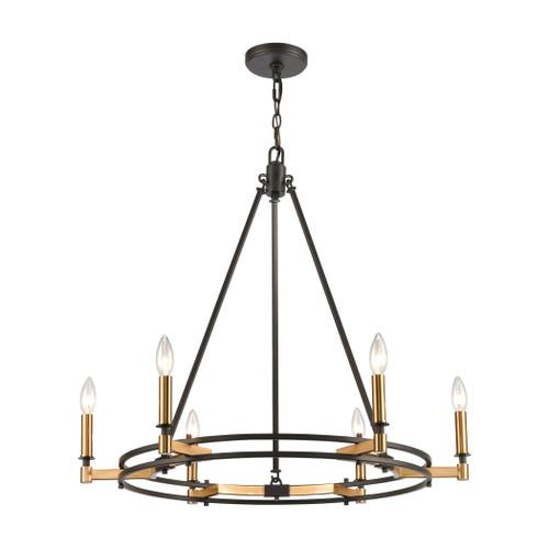 ELK Lighting 15605/6 Talia 6-Light Chandelier in Oil Rubbed Bronze and Satin Brass