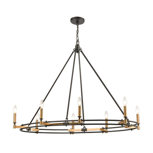 ELK Lighting 15607/8 Talia 8-Light Island Light in Oil Rubbed Bronze and Satin Brass
