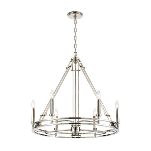 ELK Lighting 16342/6 Bergamo 6-Light Chandelier in Polished Nickel