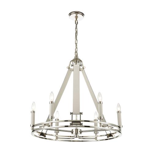 ELK Lighting 16352/6 Bergamo 6-Light Chandelier in Polished Nickel