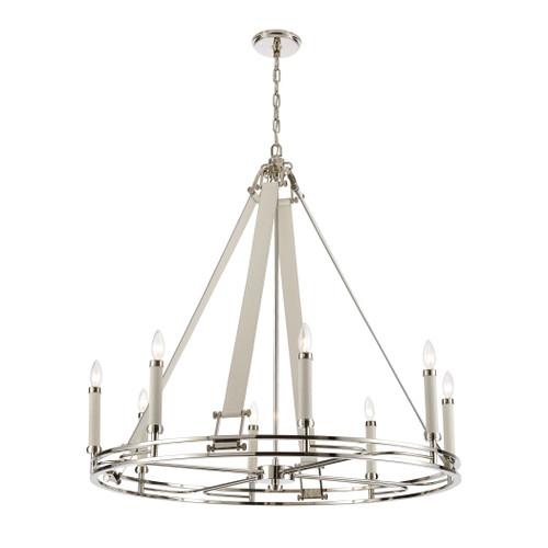 ELK Lighting 16353/8 Bergamo 8-Light Chandelier in Polished Nickel