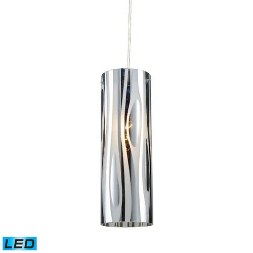 ELK Lighting 31078/1-LED Chromia 1-Light Mini Pendant in Polished Chrome with Cylinder Shade - Includes LED Bulb