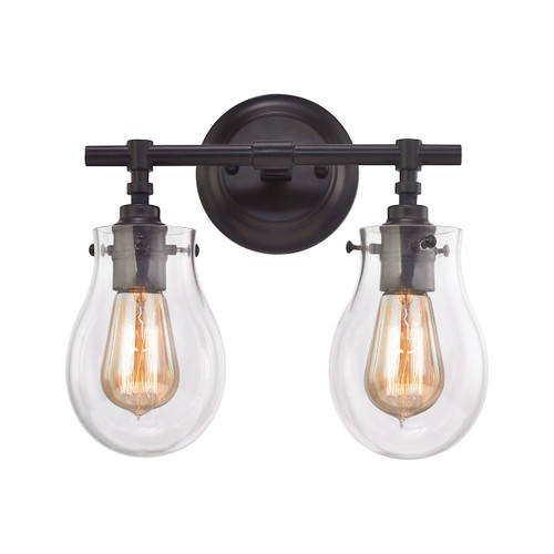 ELK Lighting 31931/2 Jaelyn 2-Light Vanity Lamp in Oil Rubbed Bronze with Clear Glass
