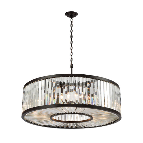 ELK Lighting 33068/11 Palacial 11-Light Chandelier in Oil Rubbed Bronze with Clear Crystal