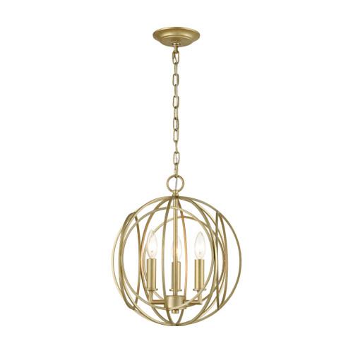 ELK Lighting 33415/3 Loughton 3-Light Chandelier in Golden Silver