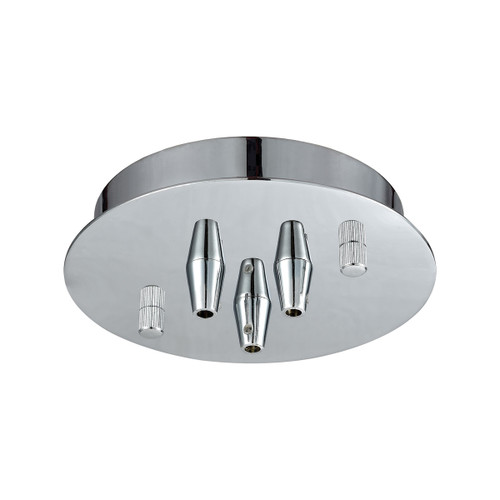 ELK Lighting 3SR-CHR Pendant Options 3 Light Small Round Canopy in Polished Chrome