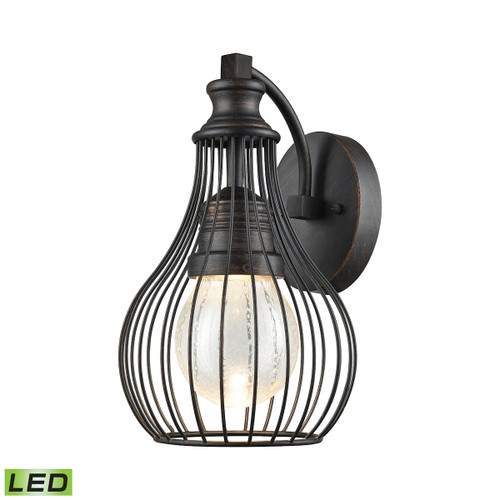ELK Lighting 42510/LED Osage 1-Light Outdoor Wall Lamp in Weathered Charcoal - Integrated LED