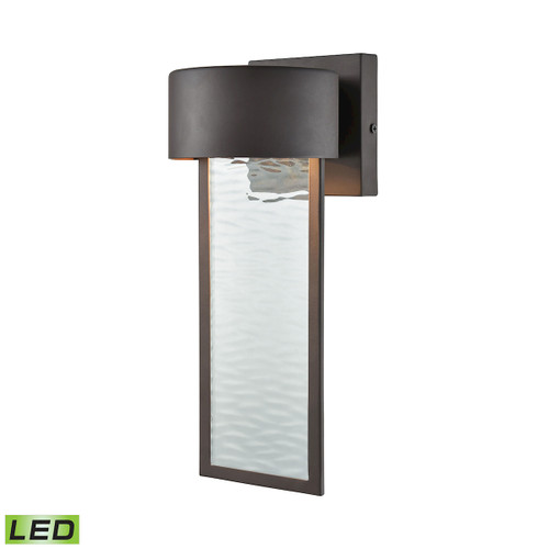 ELK Lighting 42540/LED Julius 1-Light Outdoor Wall Lamp in Clay Bronze - Integrated LED