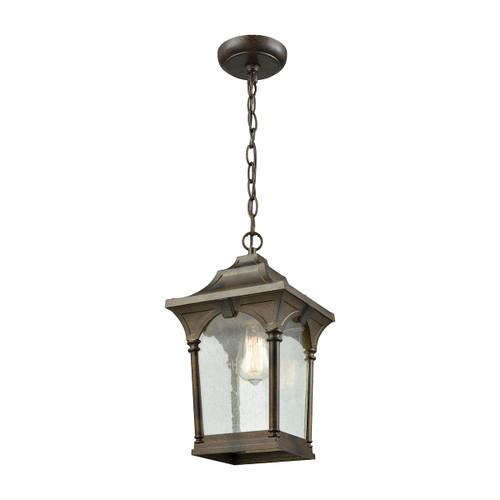 ELK Lighting 45047/1 Loringdale 1-Light Outdoor Pendant in Hazelnut Bronze