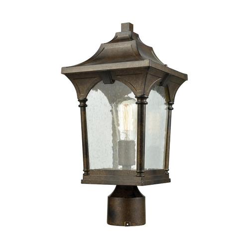 ELK Lighting 45048/1 Loringdale 1-Light Outdoor Post Mount in Hazelnut Bronze