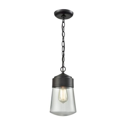 ELK Lighting 45118/1 Mullen Gate 1-Light Outdoor Pendant in Oil Rubbed Bronze