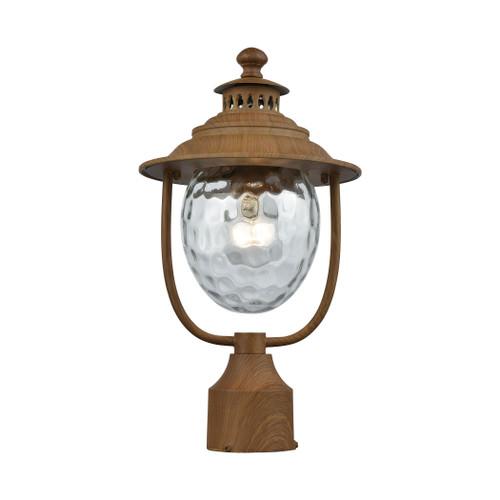 ELK Lighting 45142/1 Searsport 1-Light Outdoor Post Mount in Dark Wood