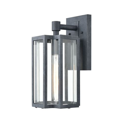 ELK Lighting 45164/1 Bianca 1-Light Sconce in Aged Zinc with Clear
