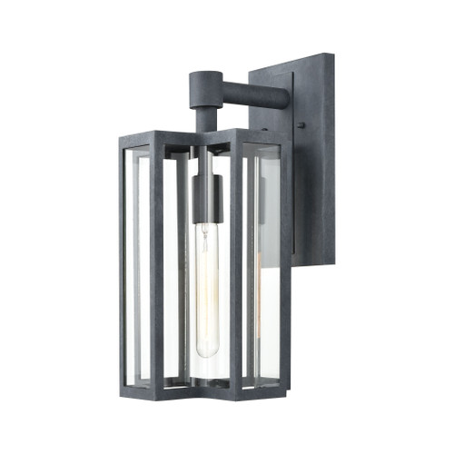 ELK Lighting 45165/1 Bianca 1-Light Sconce in Aged Zinc with Clear