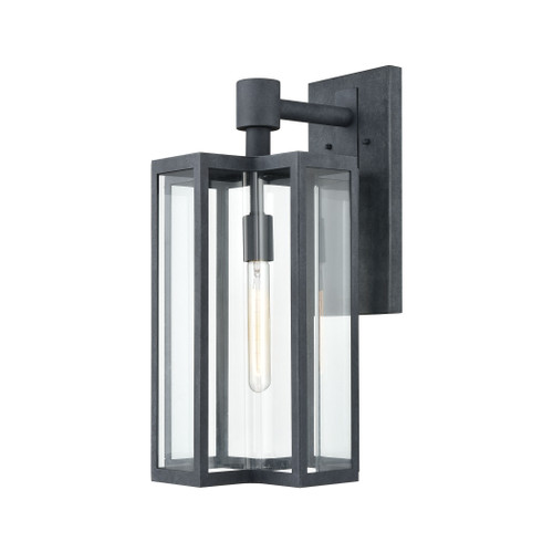 ELK Lighting 45166/1 Bianca 1-Light Sconce in Aged Zinc with Clear