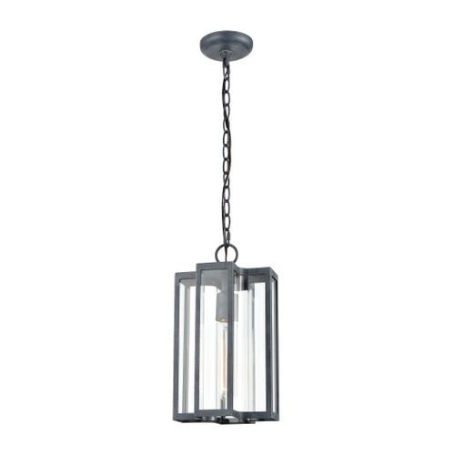 ELK Lighting 45167/1 Bianca 1-Light Hanging in Aged Zinc with Clear
