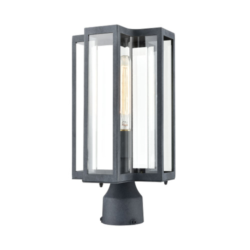 ELK Lighting 45168/1 Bianca 1-Light Post Mount in Aged Zinc with Clear