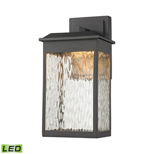 ELK Lighting 45200/LED Newcastle 1-Light Outdoor Wall Lamp in Textured Matte Black - Integrated LED