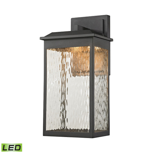 ELK Lighting 45201/LED Newcastle 1-Light Outdoor Wall Lamp in Textured Matte Black - Integrated LED
