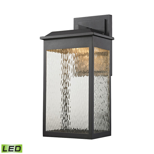 ELK Lighting 45202/LED Newcastle 1-Light Outdoor Wall Lamp in Textured Matte Black - Integrated LED