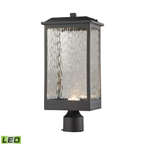 ELK Lighting 45204/LED Newcastle 1-Light Outdoor Post Mount in Textured Matte Black - Integrated LED